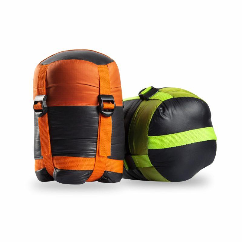 Gambar Sleeping Bag Dacron Black Orange 2