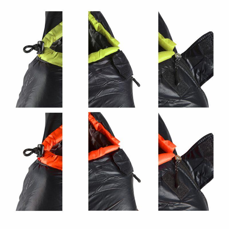 Gambar Sleeping Bag Dacron Black Orange 3