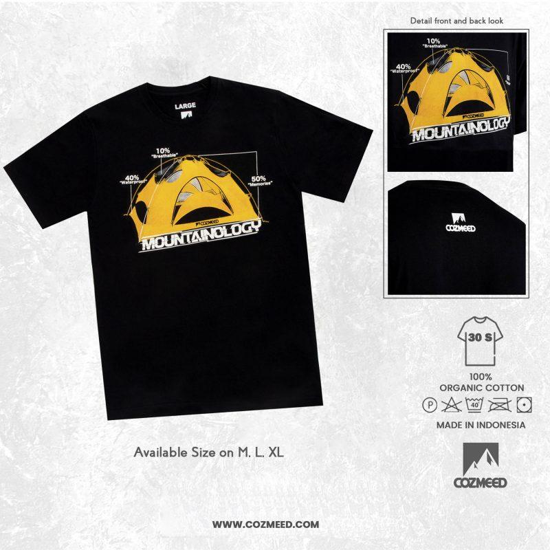 Gambar T-Shirt Mountainology Tent Hitam 6