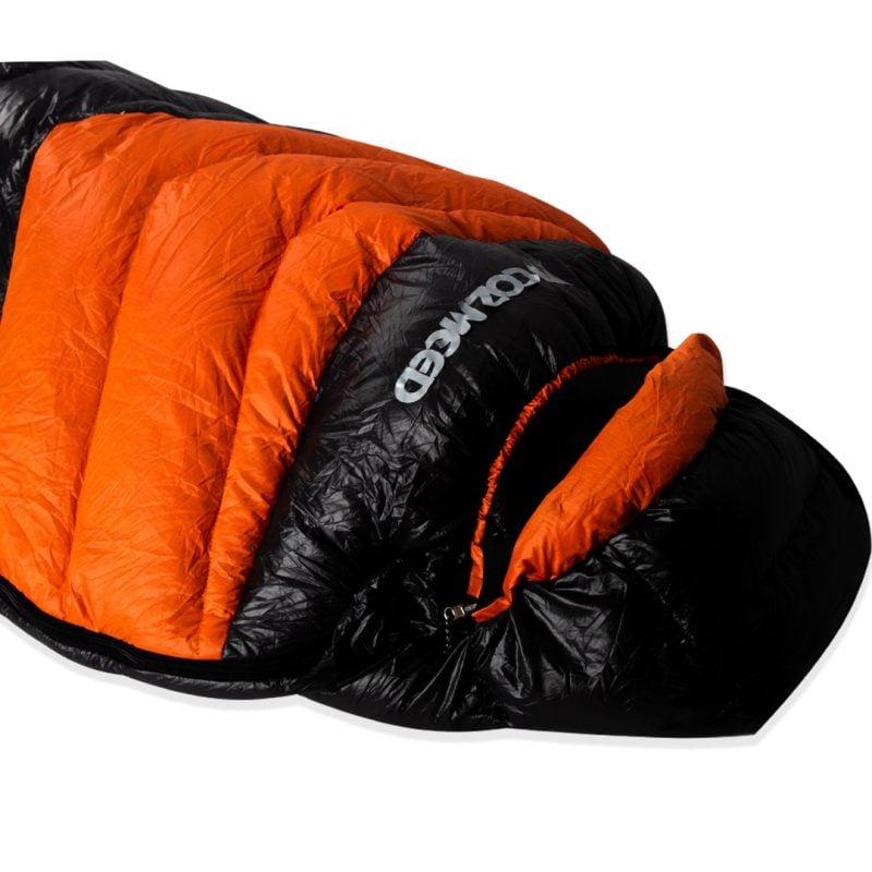 Gambar Sleeping Bag Bulang Down Black Orange 3