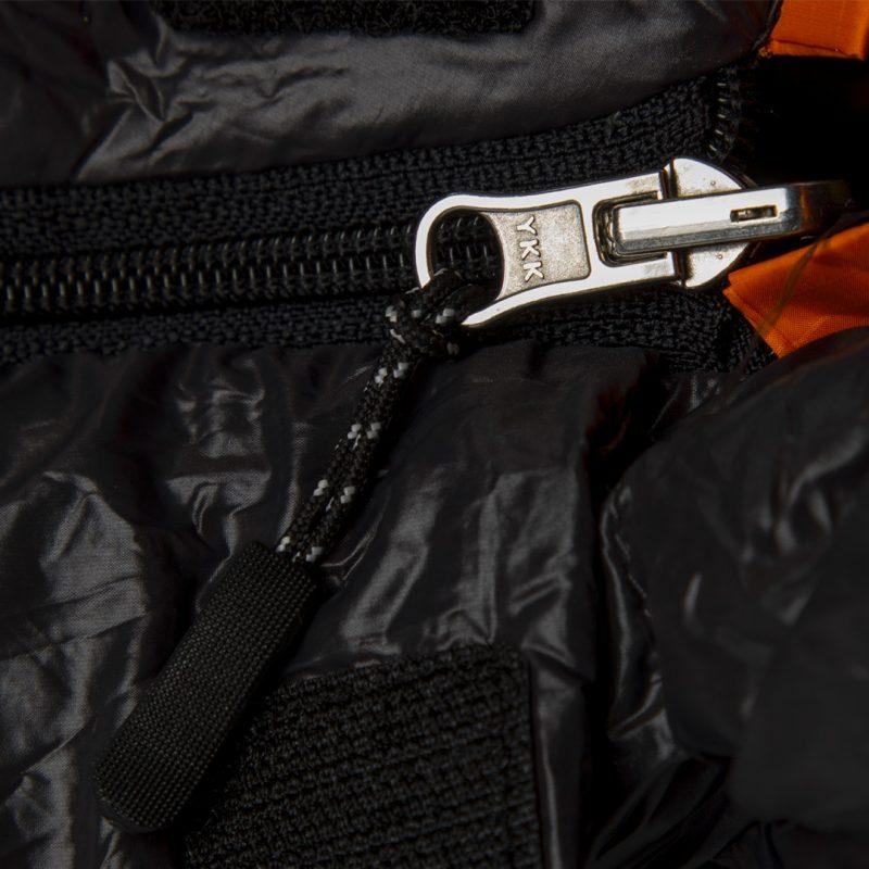 Gambar Sleeping Bag Bulang Down Black Orange 4