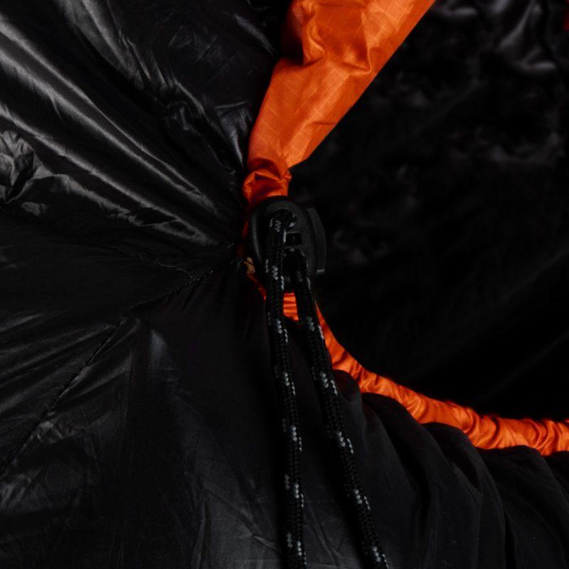 Gambar Sleeping Bag Bulang Down Black Orange 5