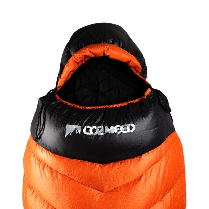 Gambar Sleeping Bag Bulang Down Black Orange 2