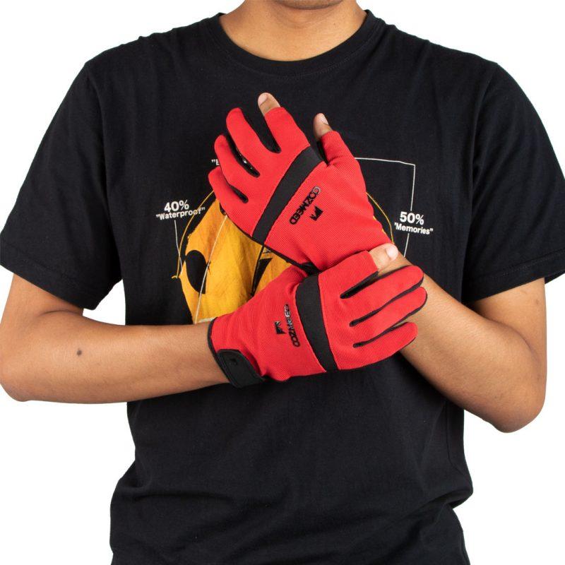 Gambar Sarung Tangan Full Raido Merah 6
