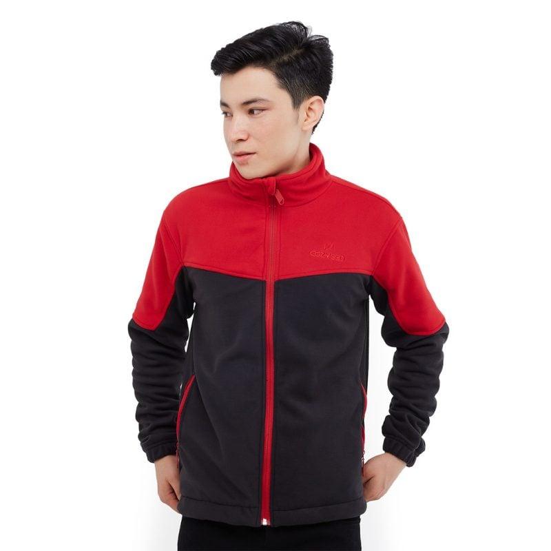 Gambar Jaket Polar 1061 Mazuorka Black Red 1