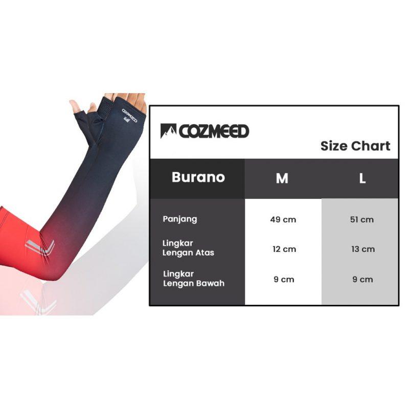 Gambar Manset Olahraga Arm Sleeve JP Burano Merah 5