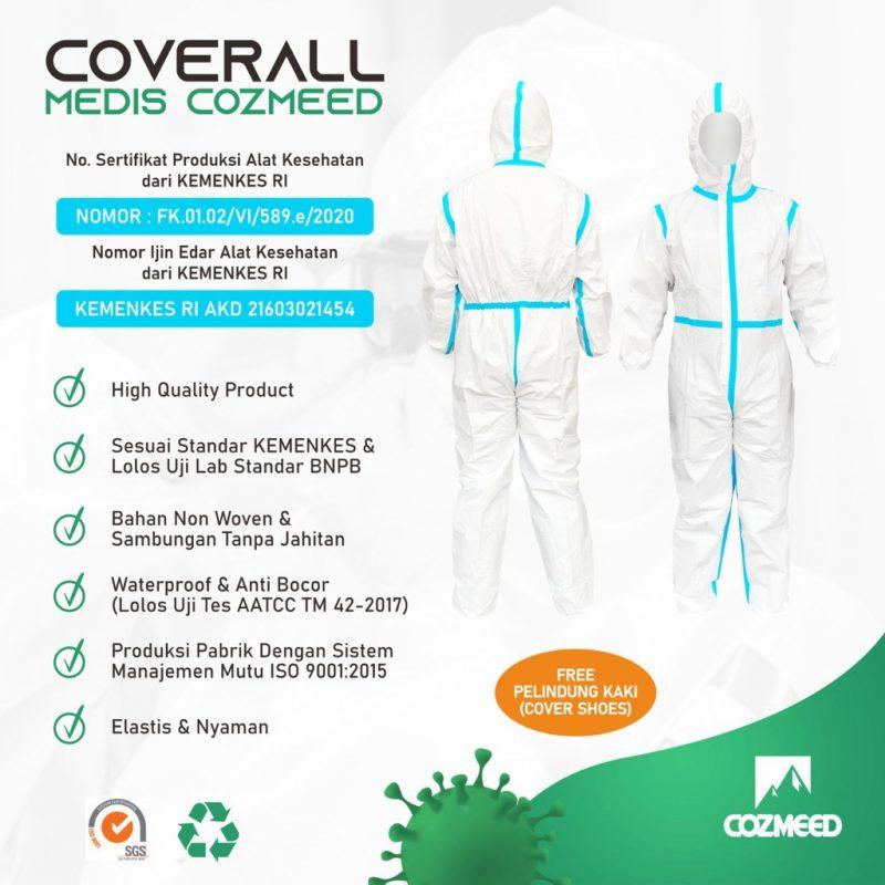 Gambar APD Baju Hazmat Suite Alat Pelindung Diri Microporous 5